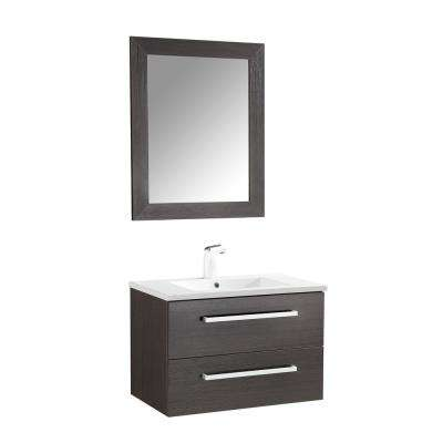 Conques 30 In W X 20 H Bath Vanity Rich Brown With