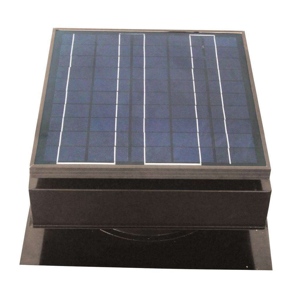 Remington Solar 30 Watt 1550 Cfm Gray Solar Powered Attic