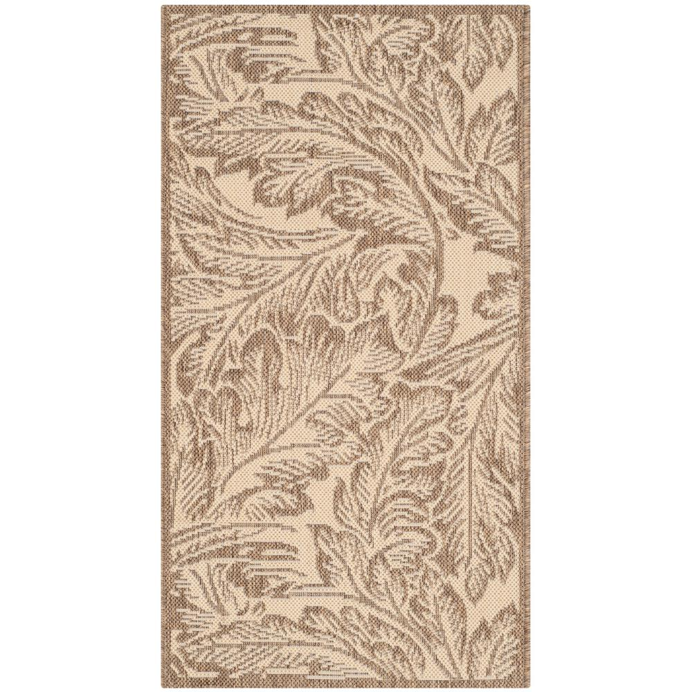 Safavieh Courtyard Natural/Brown 2 ft. 7 in. x 5 ft. Indoor/Outdoor Area Rug