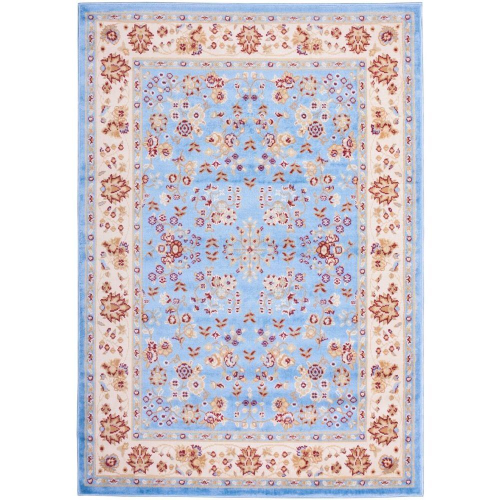Well Woven Miami Bijar Classic Traditional Oriental Blue 8 ft. 2 in. x 9 ft. 10 in. Area Rug