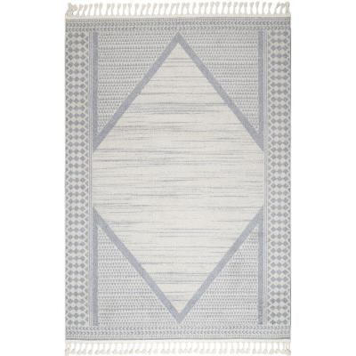 Gemma Modern Diamond Medallion Beige 10 ft. x 13 ft. Area Rug