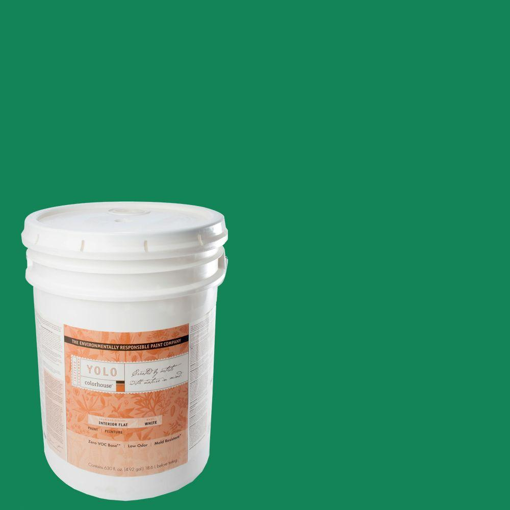 YOLO Colorhouse 5-gal. Thrive .06 Flat Interior Paint-DISCONTINUED