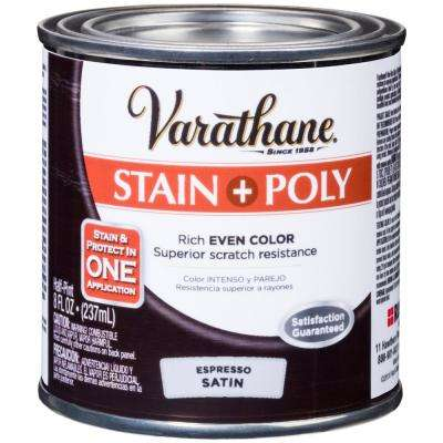 1 hp. Espresso Satin Water-Based Interior Stain and Polyurethane (4-Pack)