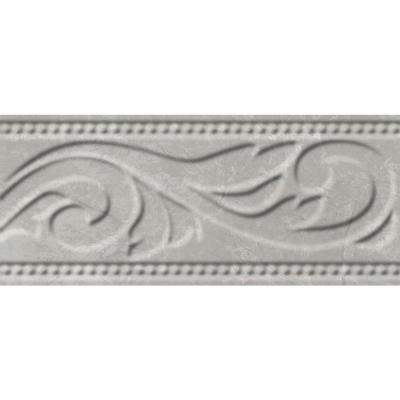 Delray L-1 White 3 in. x 8 in. Ceramic Listello Wall Tile