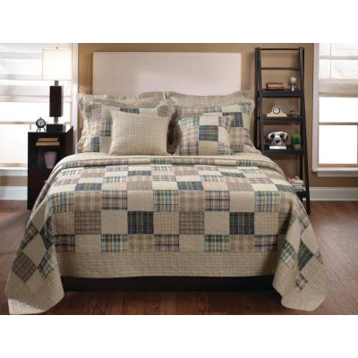 Oxford 3-Piece Multi Full and Queen Quilt Set