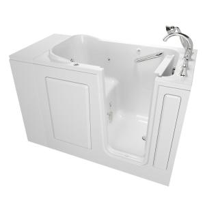 American Standard Exclusive Series 48 inch x 28 inch Right Hand Walk-In Whirlpool Tub with Quick Drain in White by American Standard