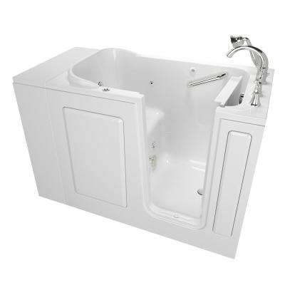 Exclusive Series 48 in. x 28 in. Walk-In Whirlpool Tub with Quick Drain in White