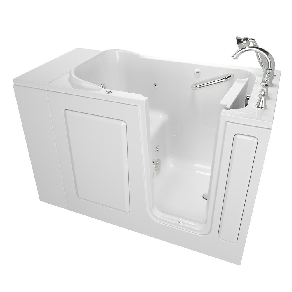 American Standard Exclusive Series 48 In X 28 In Right Hand Walk In Whirlpool Tub With Quick Drain In White 2848 409 Wrw Pc The Home Depot