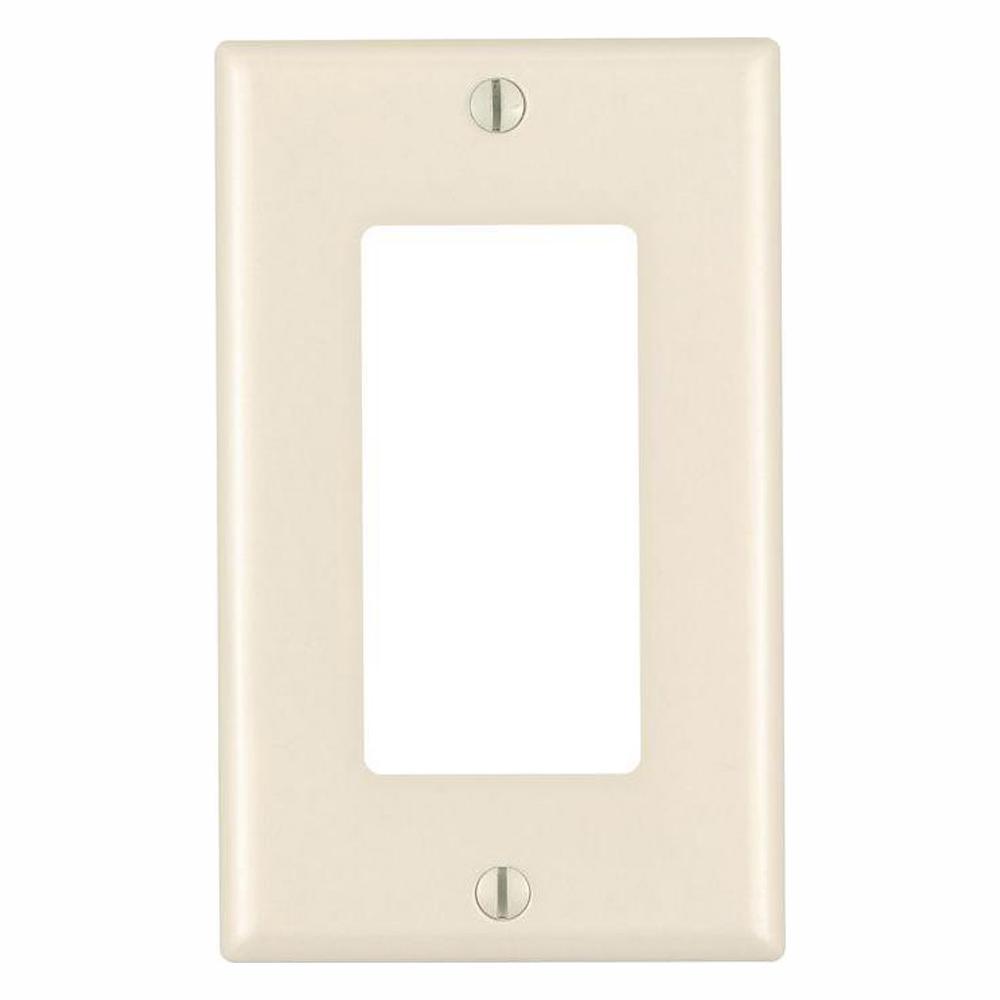 Leviton Decora 1-Gang GFCI Device Wall Plate, Light Almond (10-Pack)