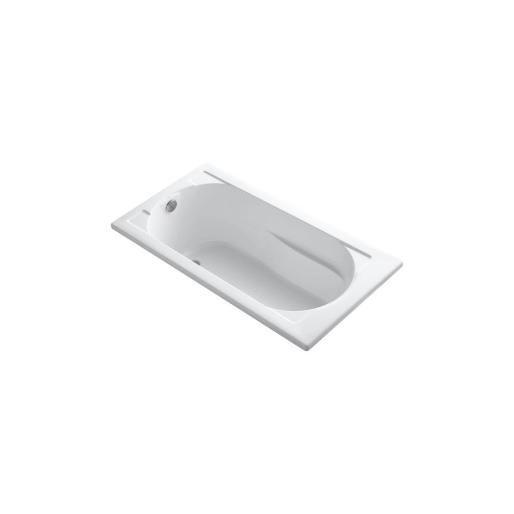 KOHLER Devonshire 5 ft. Reversible Drain Drop-In Acrylic Soaking Tub in White
