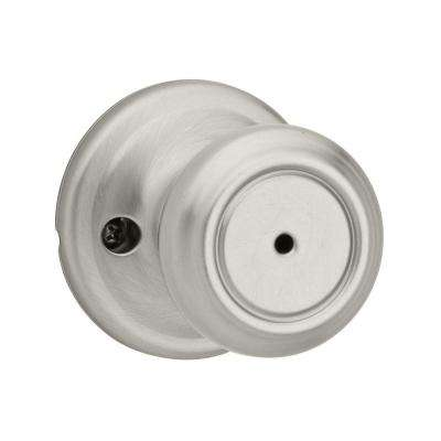 Cameron Satin Nickel Privacy Bed/Bath Door Knob