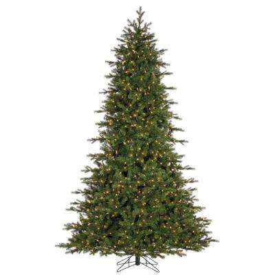 7.5 ft. Pre-Lit Natural Cut Lexus Pine Artificial Christmas Tree with 1200 Clear Lights