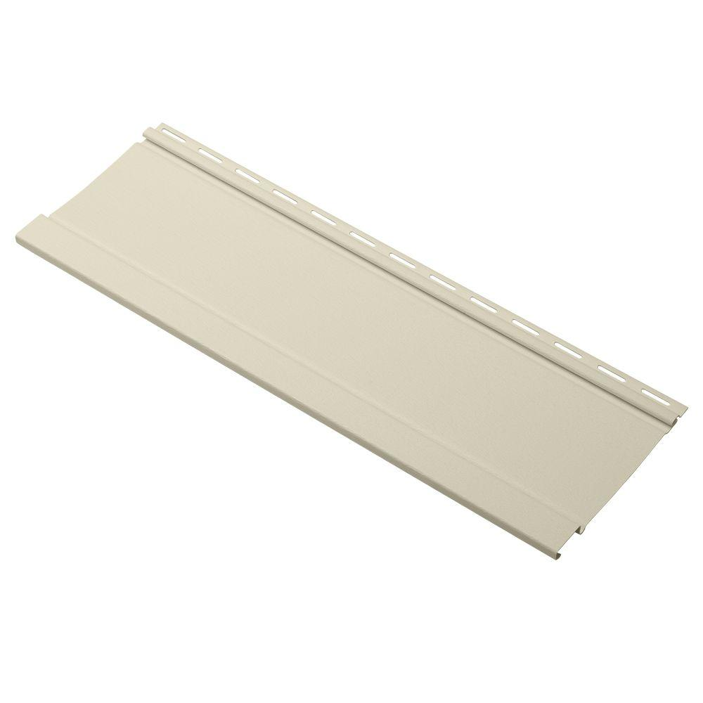 Board and Batten 24 in. Vinyl Siding Sample in Beige