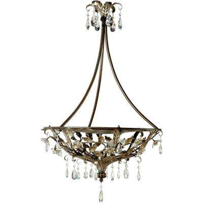 Splendido Collection 4-Light Oxido with Gold Highlight Hanging Pendant