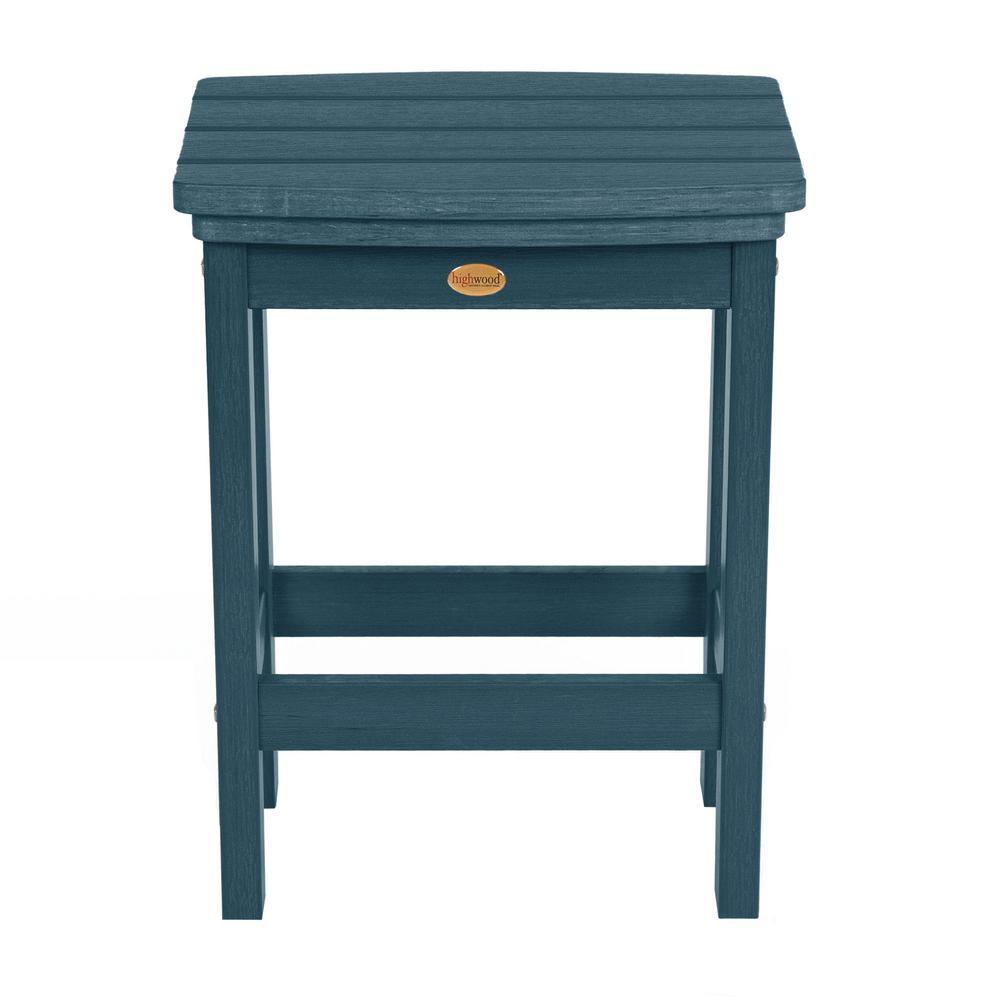 Marvelous Highwood Lehigh Nantucket Blue Counter Height Recycled Plastic Outdoor Bar Stool Machost Co Dining Chair Design Ideas Machostcouk