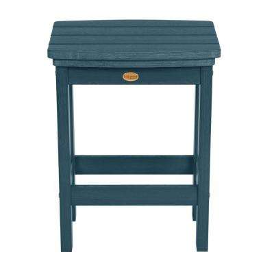 Lehigh Nantucket Blue Counter-Height Recycled Plastic Outdoor Bar Stool