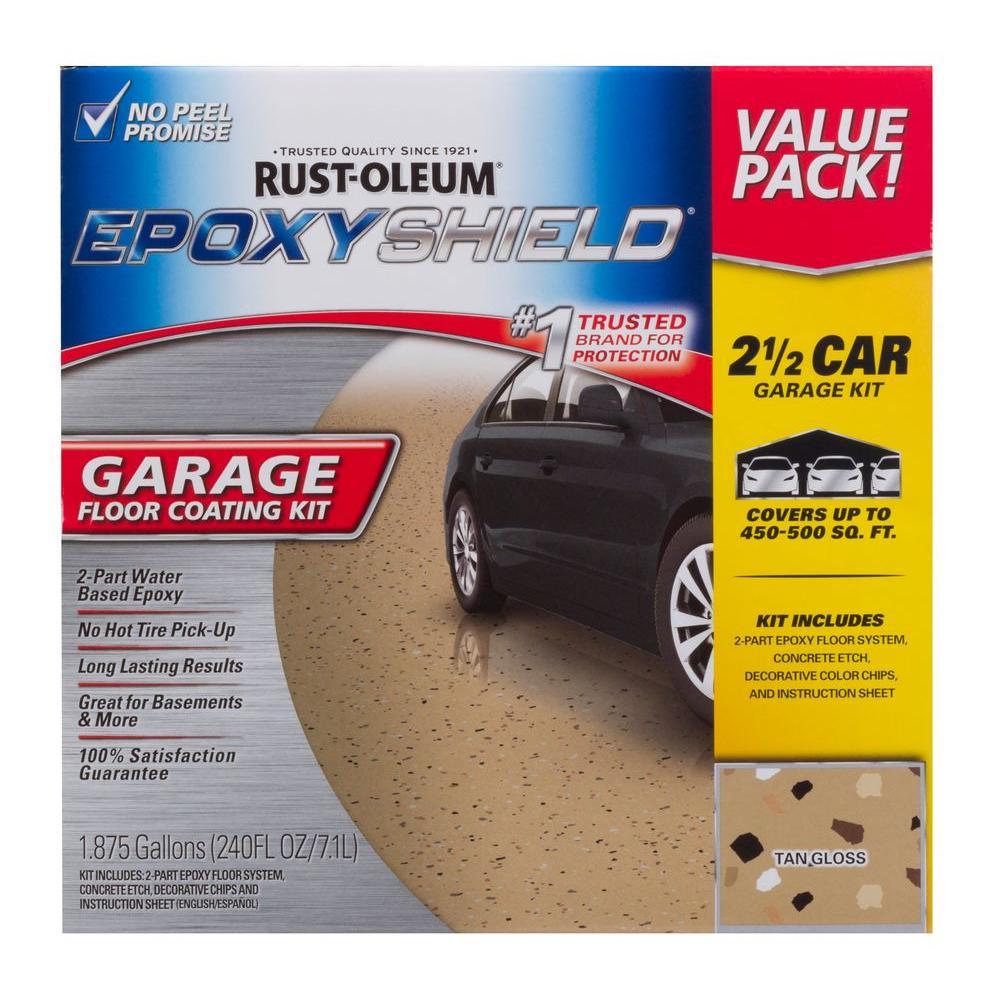 Rust Oleum Epoxy Shield 240 Oz Tan High Gloss 2 5 Car