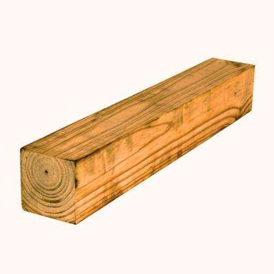 4 in. x 4 in. x 12 ft. Southern Yellow Pine Cedar-Tone Pressure-Treated Lumber