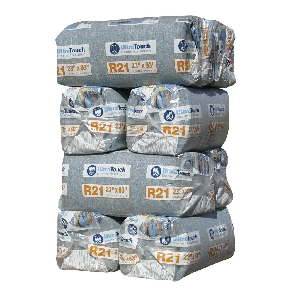 UltraTouch R-21 Denim Insulation Batts 23 in. x 93 in. (8-Bags)