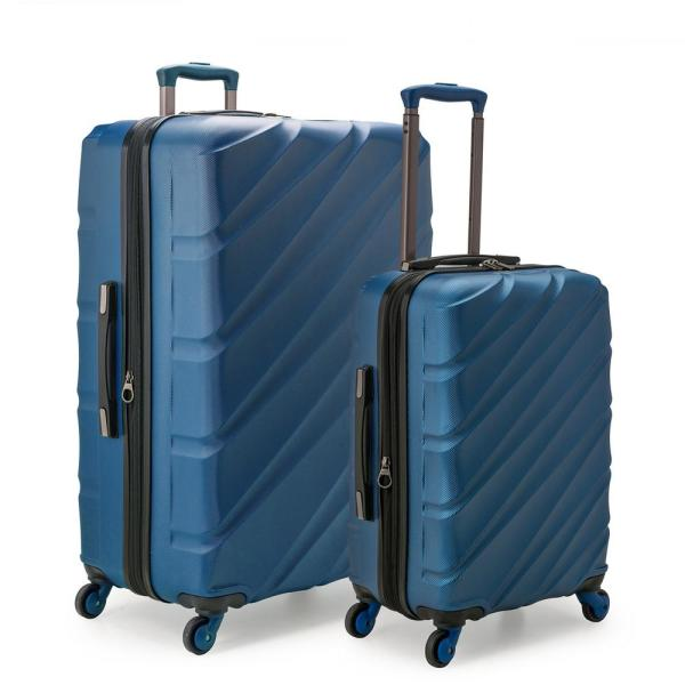U.S. Traveler Gilmore 2-Piece Navy Expandable Hardside 4-Wheel Spinner Luggage
