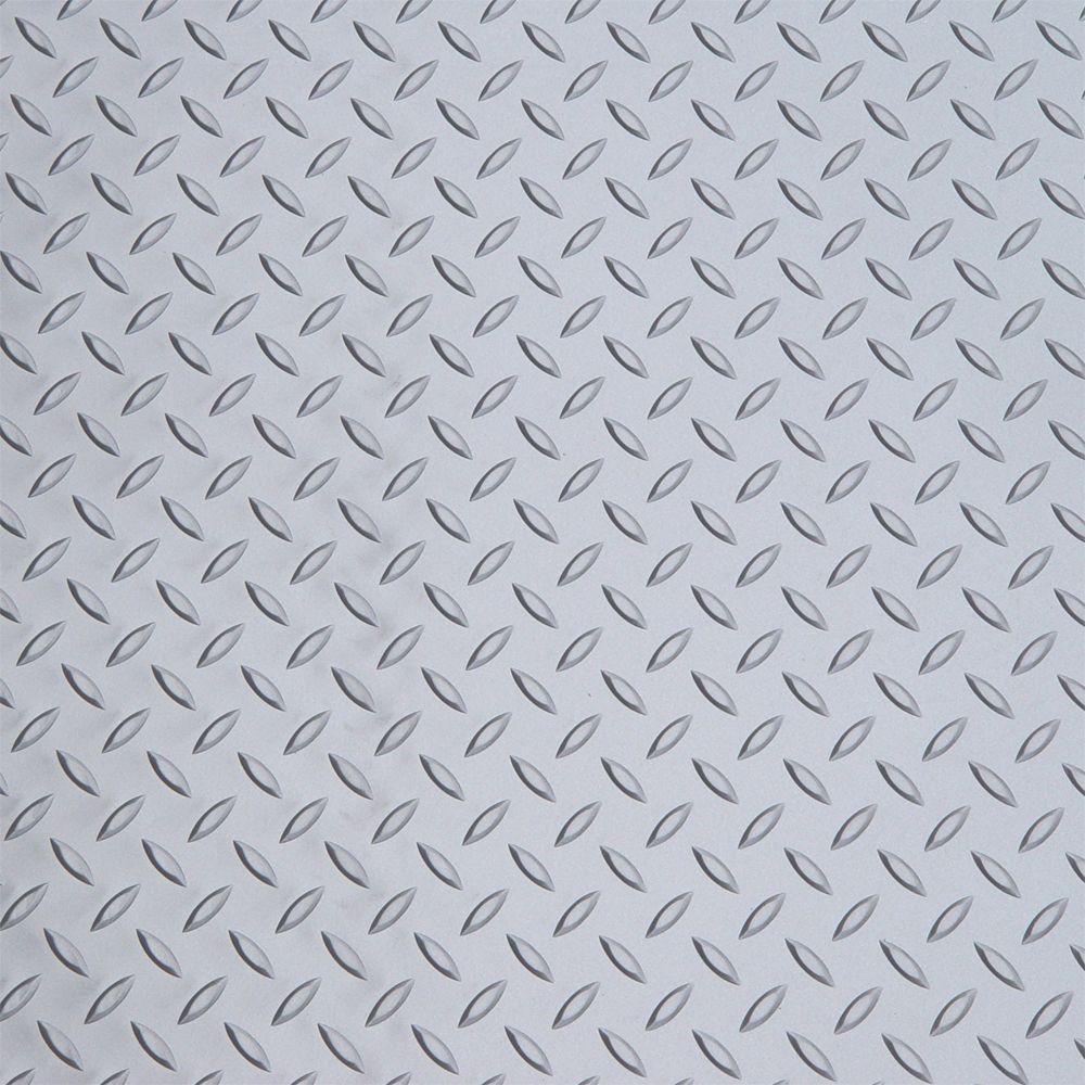 Diamond Deck Metallic Silver 5 ft. x 7.5 ft. Motorcycle Mat