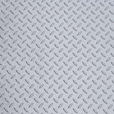 Metallic Silver 5 ft. x 7.5 ft. Motorcycle Mat