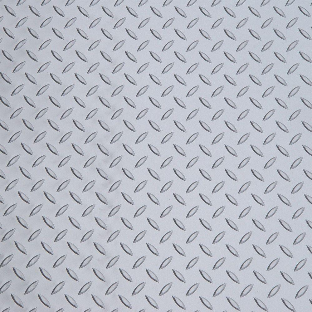 Diamond Deck Metallic Silver 1 Car Garage Kit, includes (2) 5 ft. x 24 ft. Pieces