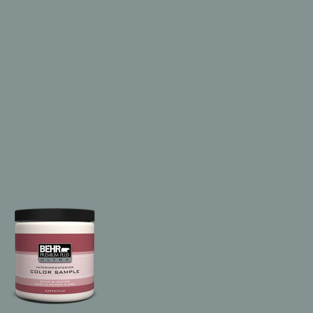 BEHR Premium Plus Ultra 8 oz. #ECC-61-3 Evening Fog Interior/Exterior Paint Sample