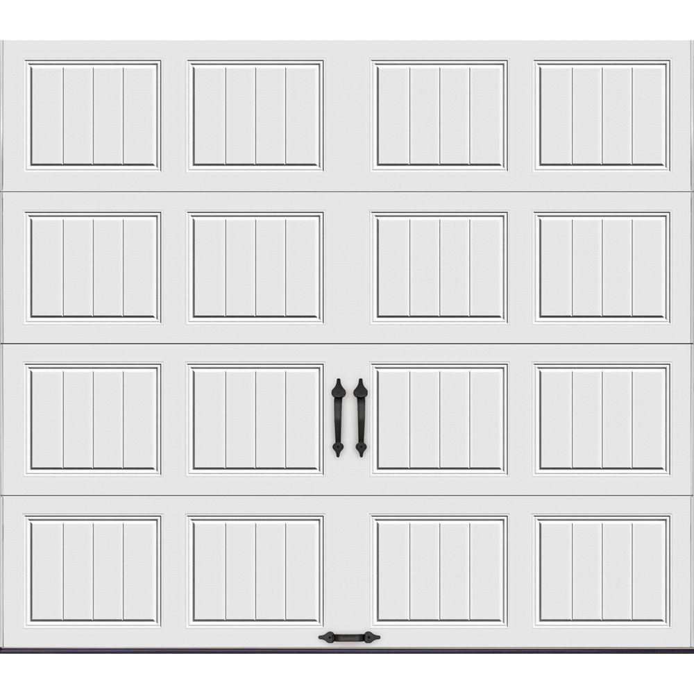 Clopay Gallery Collection 9 ft. x 7 ft. 6.5 R-Value Insulated Solid White Garage Door