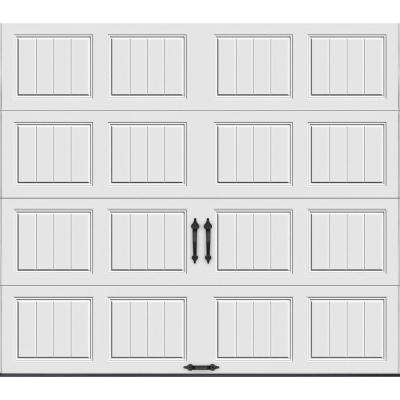 Gallery Collection 9 ft. x 7 ft. 6.5 R-Value Insulated Solid White Garage Door