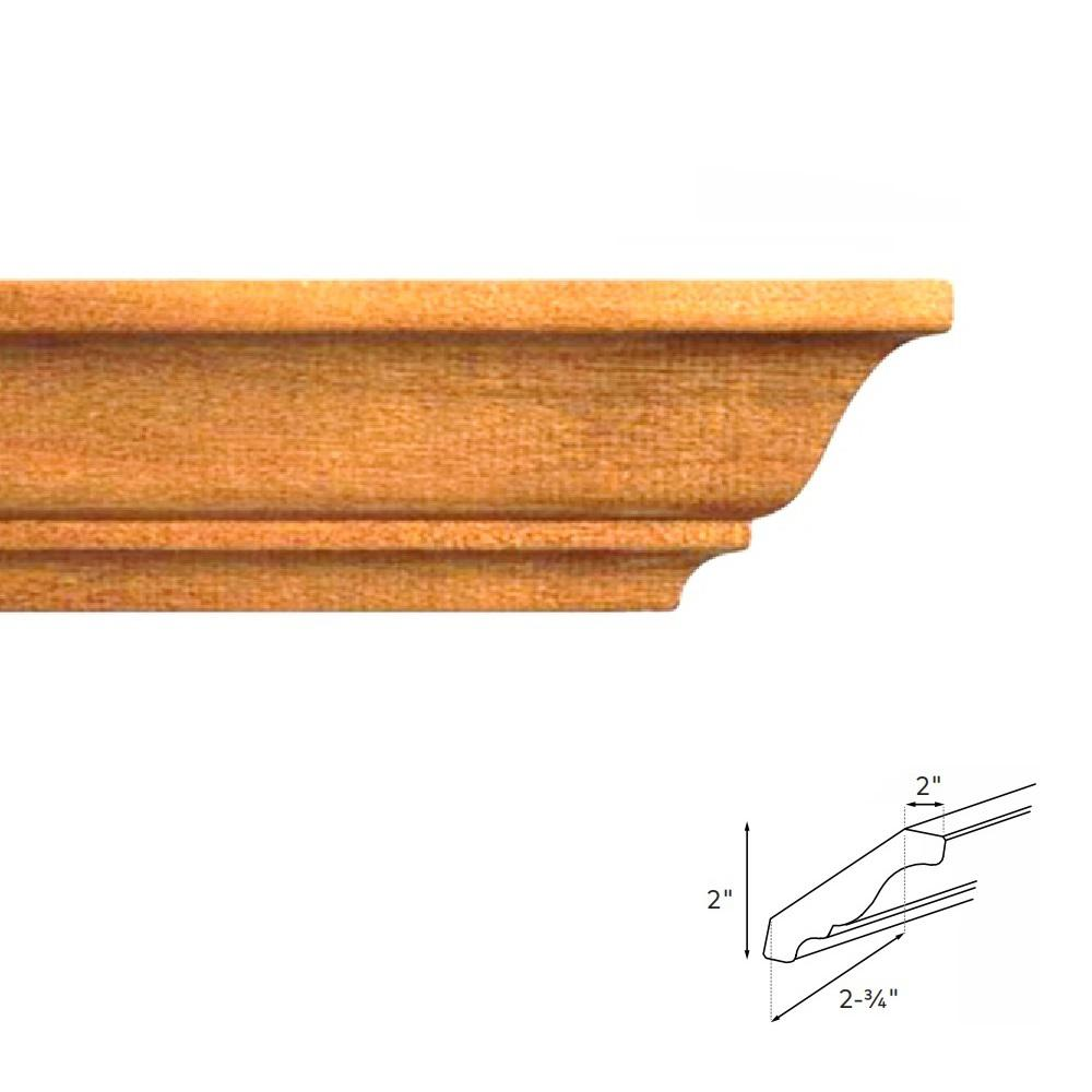 9 Types Of Molding For Your Kitchen Cabinets: Hampton Bay 4.5 In. X 90 In. Crown Molding In Medium Oak