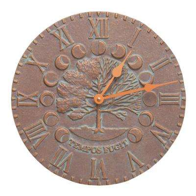 12 in. Times and Seasons Indoor Outdoor Wall Clock