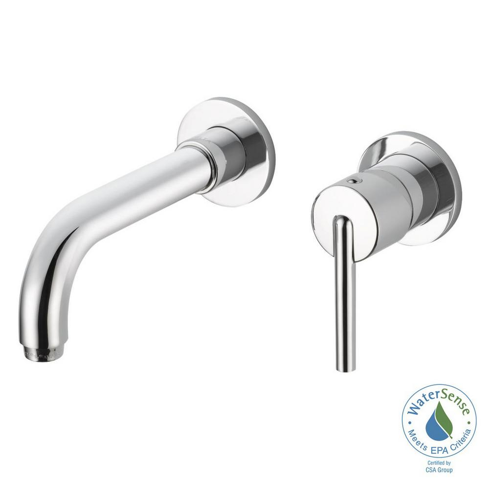 Trinsic 1-Handle Wall Mount Bathroom Faucet Trim Kit in Chrome (Valve
