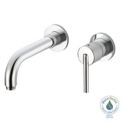 Trinsic 1-Handle Wall Mount Bathroom Faucet Trim Kit in Chrome (Valve Not Included)