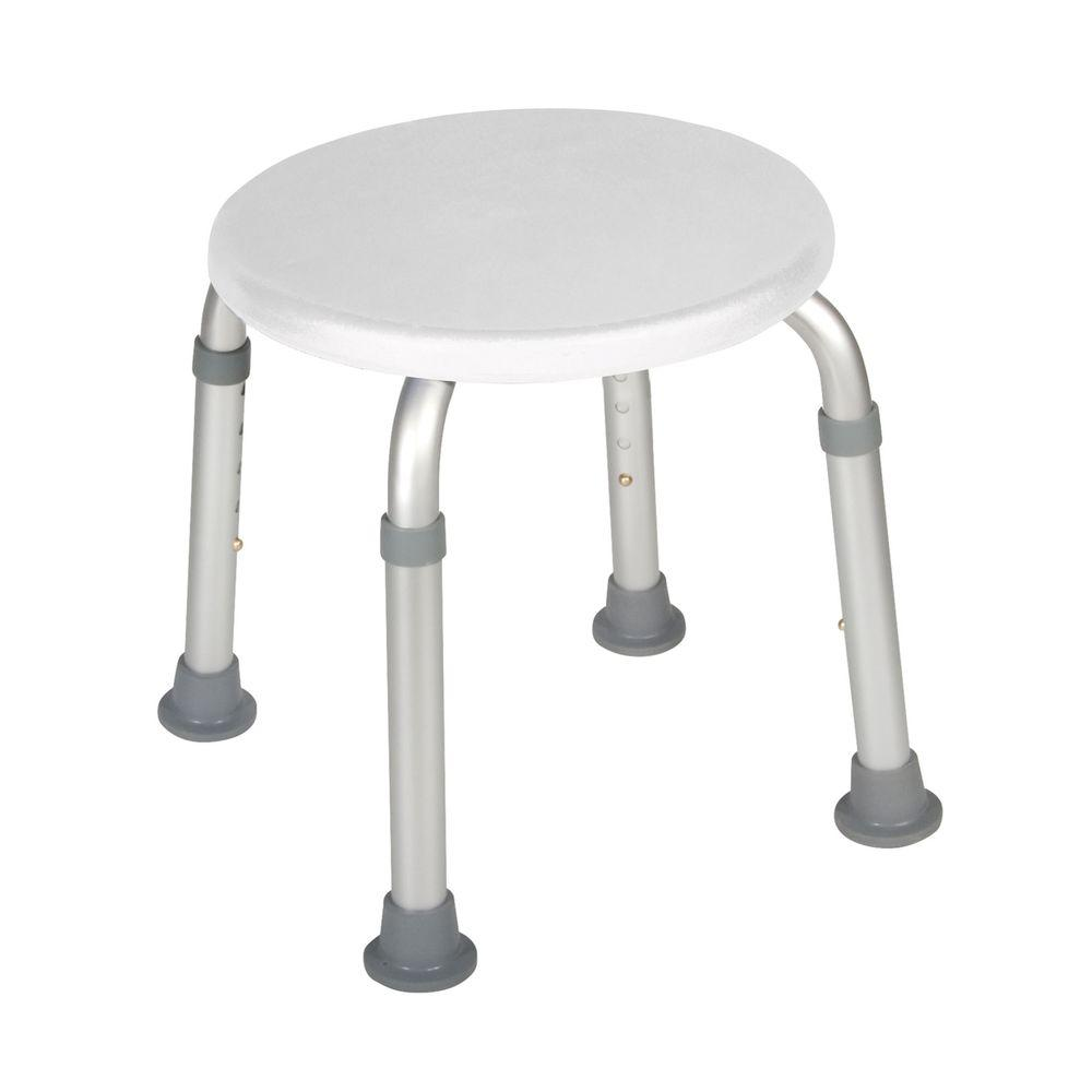 Drive Adjustable Height Bath Stool In White Rtl12004kd The Home
