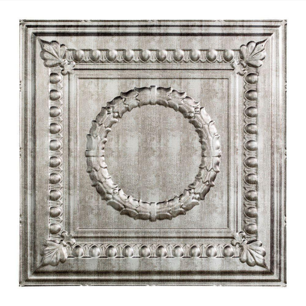 Fasade Rosette 2 Ft X 2 Ft Lay In Ceiling Tile In