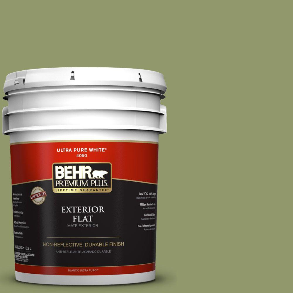 5-gal. #HDC-SP14-2 Exotic Palm Flat Exterior Paint