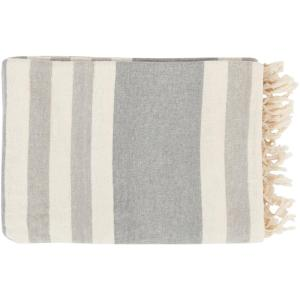 Mack Light Gray Cotton Throw