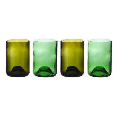 Assorted Color Wine Bottle Tumblers (Set of 4)