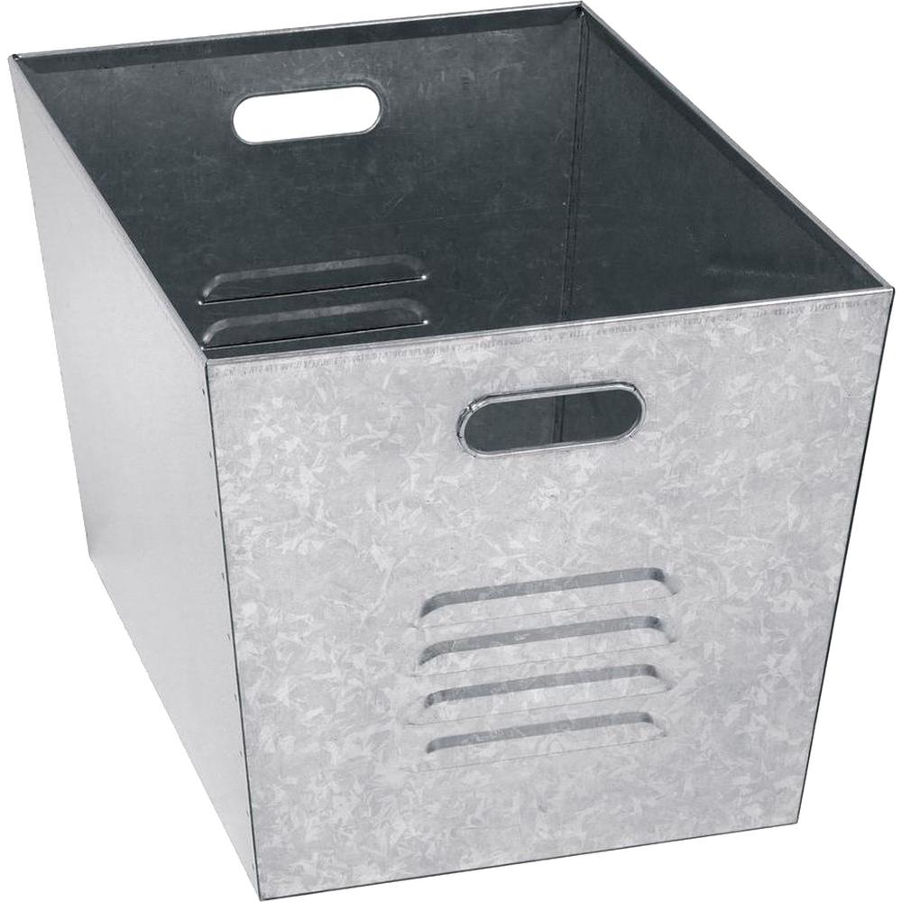D Galvanized Steel Utility Storage Bins 6 Pack