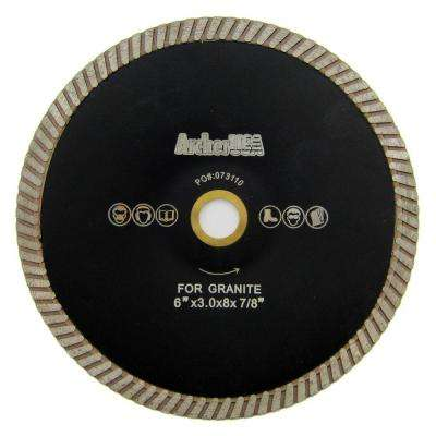 6 in. Turbo Contour Diamond Blade for Curved Cutting