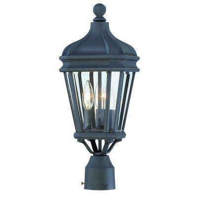 Harrison 3-Light Black Outdoor Post Lantern