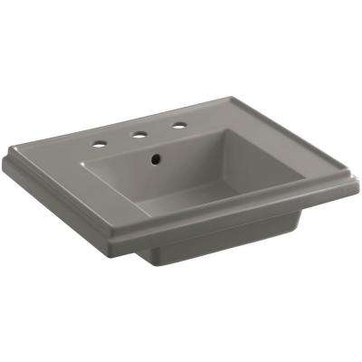 Tresham 24 in. Pedestal Sink Basin in Cashmere