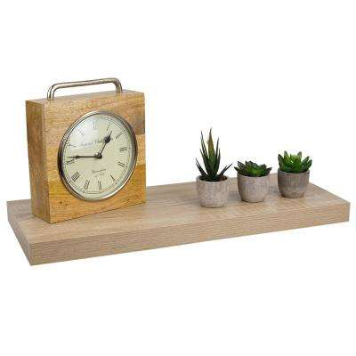 23.62 in. x 9.25 in. x 1.5 in. Oak Long Rectangle Floating Shelf