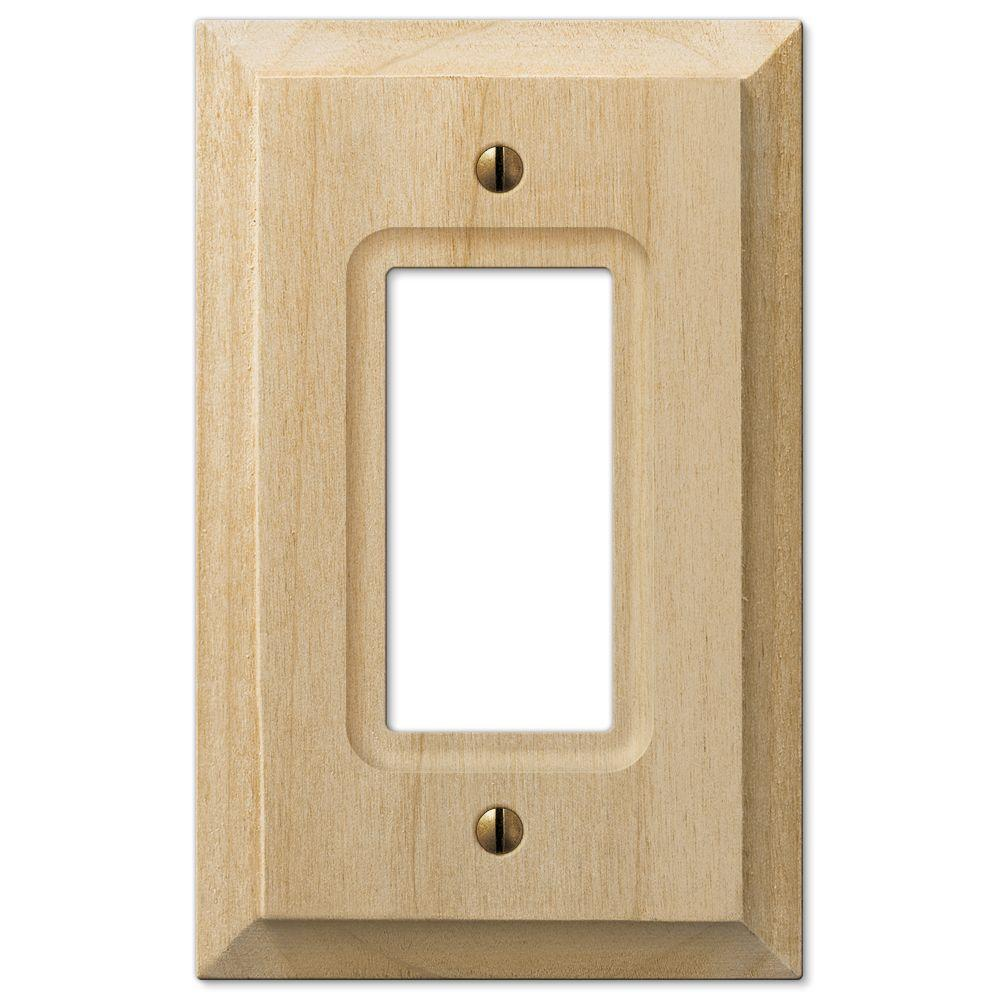 Cabin 1 Decora Wall Plate in Unfinished Alder Wood (2-Pack)