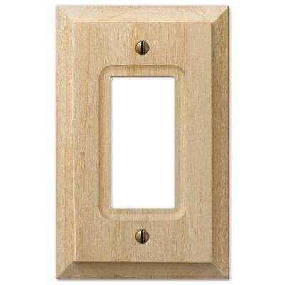 Cabin 1 Decora Wall Plate - Unfinished Alder Wood