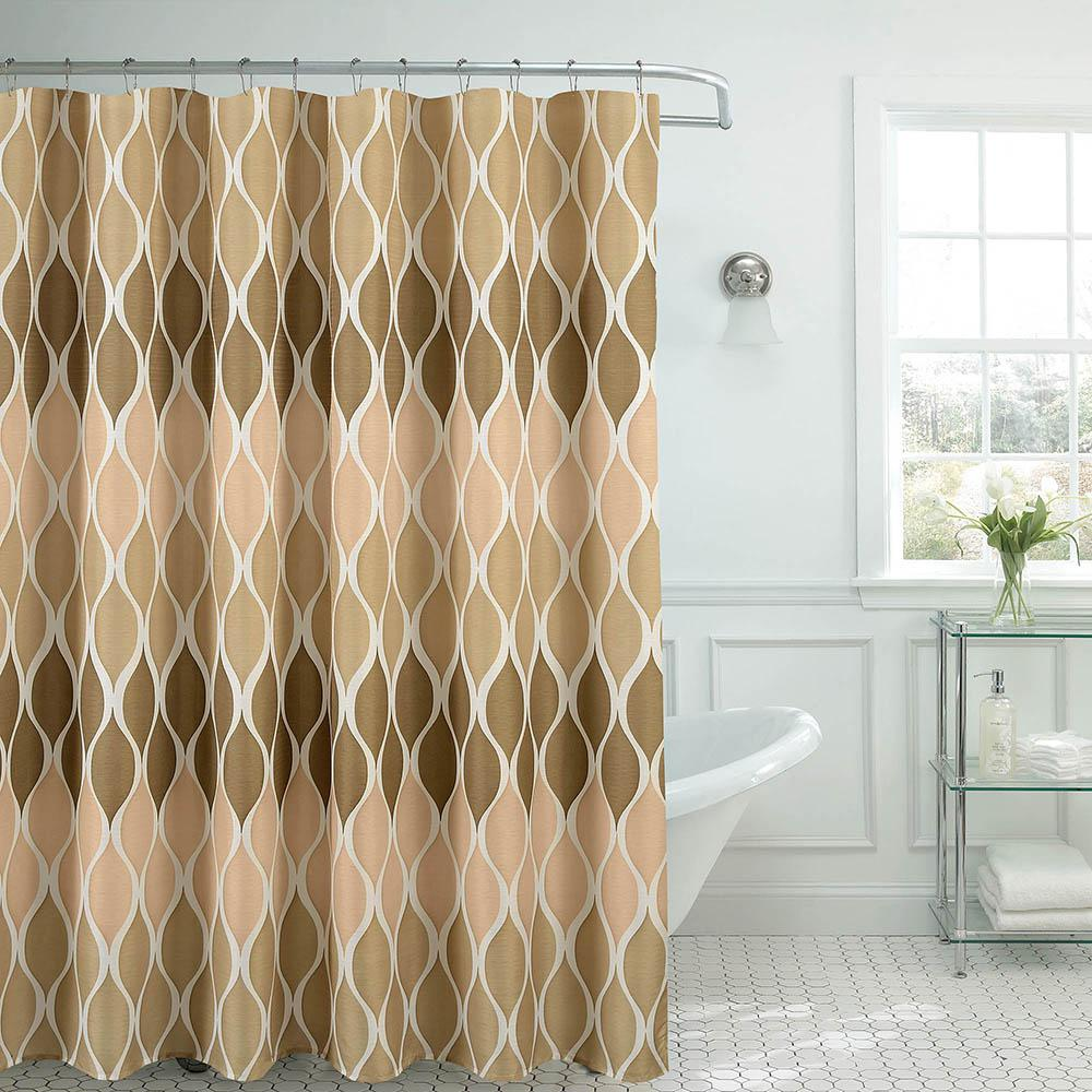 Clarisse Faux Linen 70 in. x 72 in. Linen Textured Shower