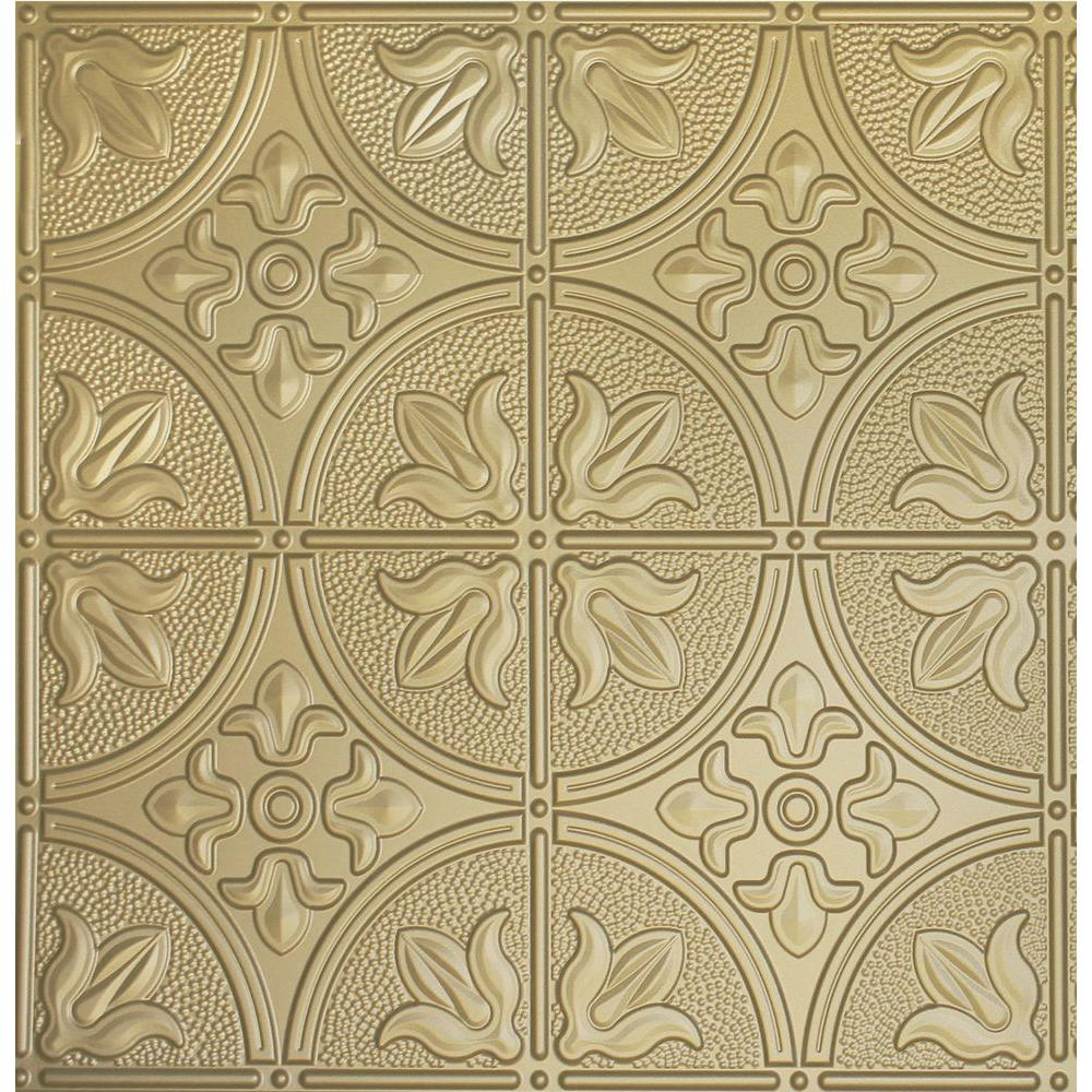 Global specialty products dimensions 2 ft x 2 ft brass ceiling global specialty products dimensions 2 ft x 2 ft brass ceiling tile for refacing dailygadgetfo Choice Image