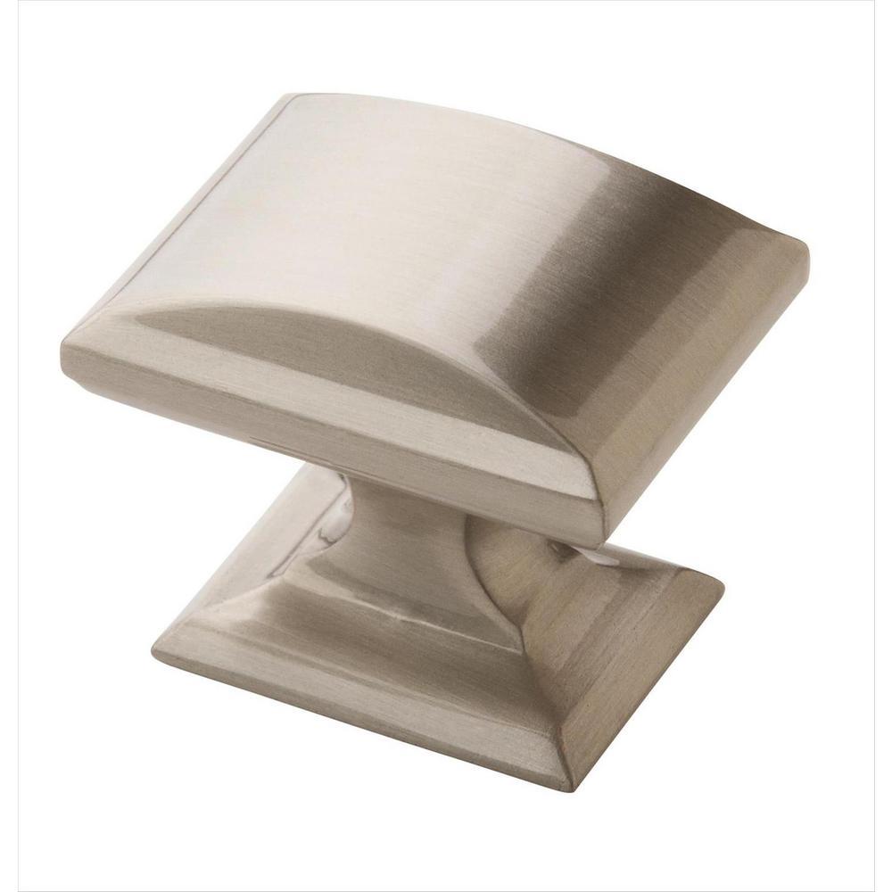 Candler 1-1/4 in. (32 mm) Length Satin Nickel Cabinet Knob  (5-Pack)