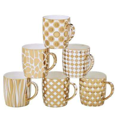 Gold Plated Barrel Mug (Set of 6)